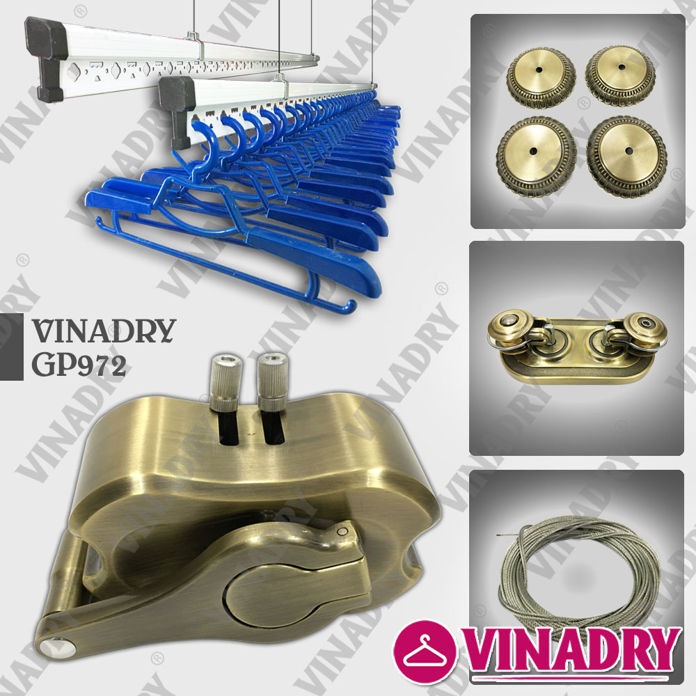 Phơi đồ đơn giản, gọn nhẹ hơn với bộ sản phẩm giàn phơi Vinadry thiết kế mới nhất 2019