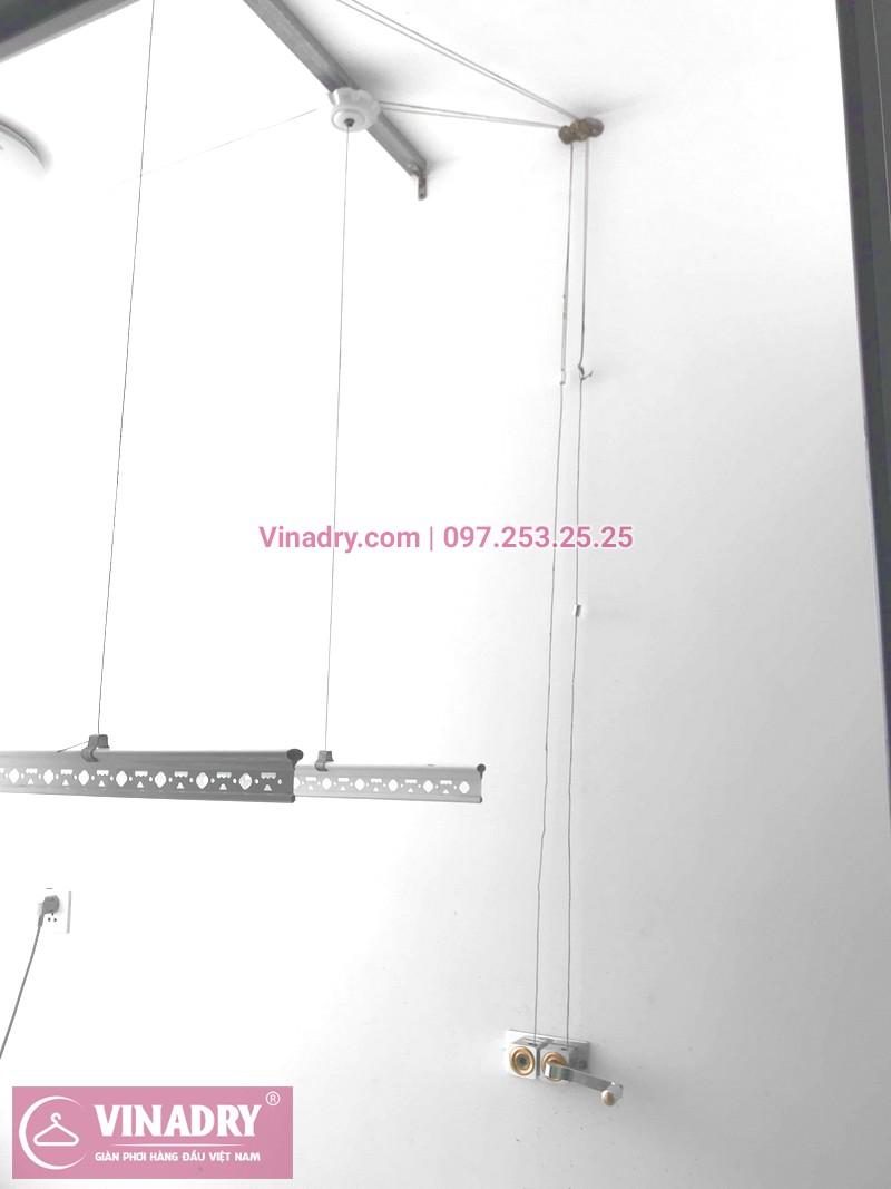 Vinadry hướng dẫn sửa giàn phơi thông minh khi dây cáp bị rối tại chung cư Vinhomes Nguyễn Chí Thanh