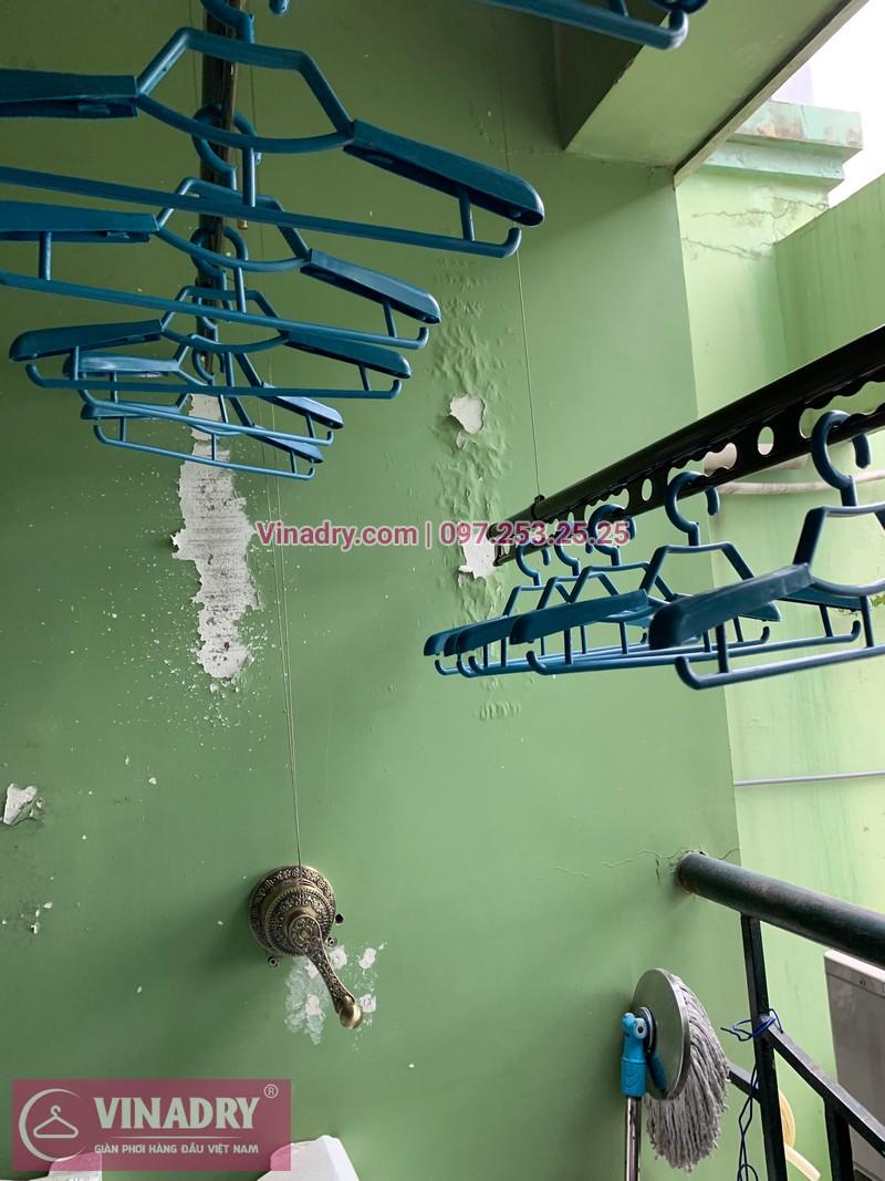 Lắp giàn phơi thông minh Đống Đa, Vinadry GP941 tại căn hộ 2405, chung cư 71 Nguyễn Chí Thanh, nhà anh Vinh