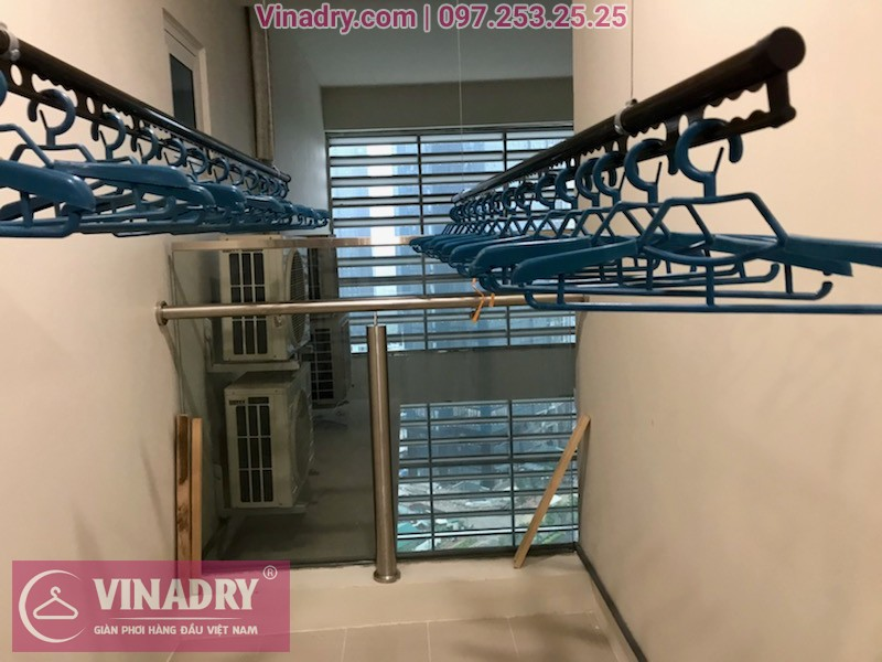 Lắp giàn phơi thông minh Nam Thăng Long, căn hộ P2110 tòa L3, chung cư Ciputra, nhà anh Trung