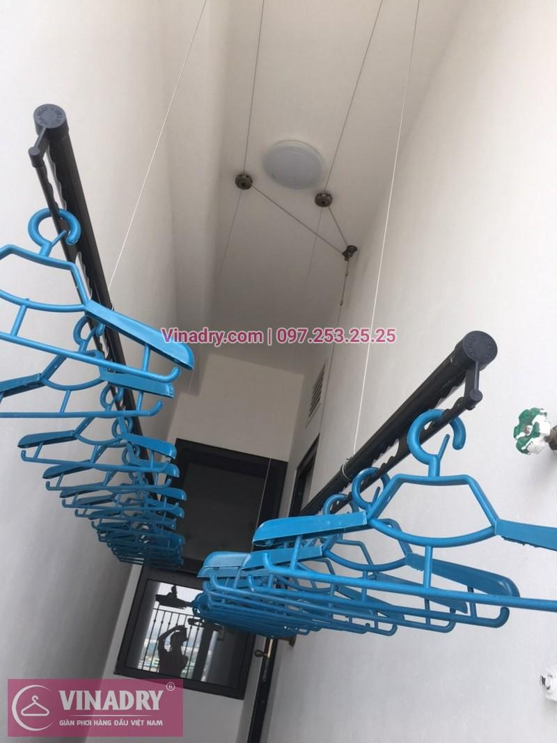 Lắp giàn phơi thông minh Từ Liêm Vinadry GP941, chung cư Hateco Apollo Xuân Phương, nhà chị Lê