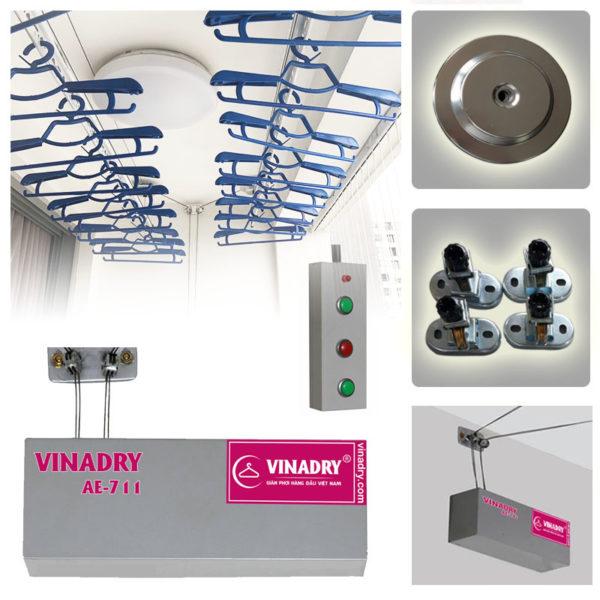 Mẫu giàn phơi điện tử thông minh nhất Vinadry AE-711 có giá: 4.590.000đ