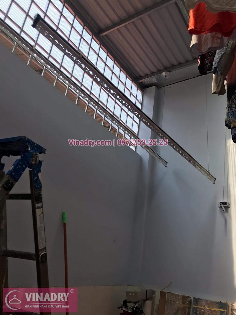 Lắp giàn phơi thông minh giá rẻ HP368 cho nhà anh Chung tại ngõ 187 Hồng Hà, Ba Đình