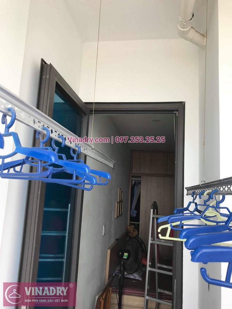 Vinadry lắp giàn phơi KS950 tại chung cư New Horizon City, 87 Lĩnh Nam cho nhà chị Lành