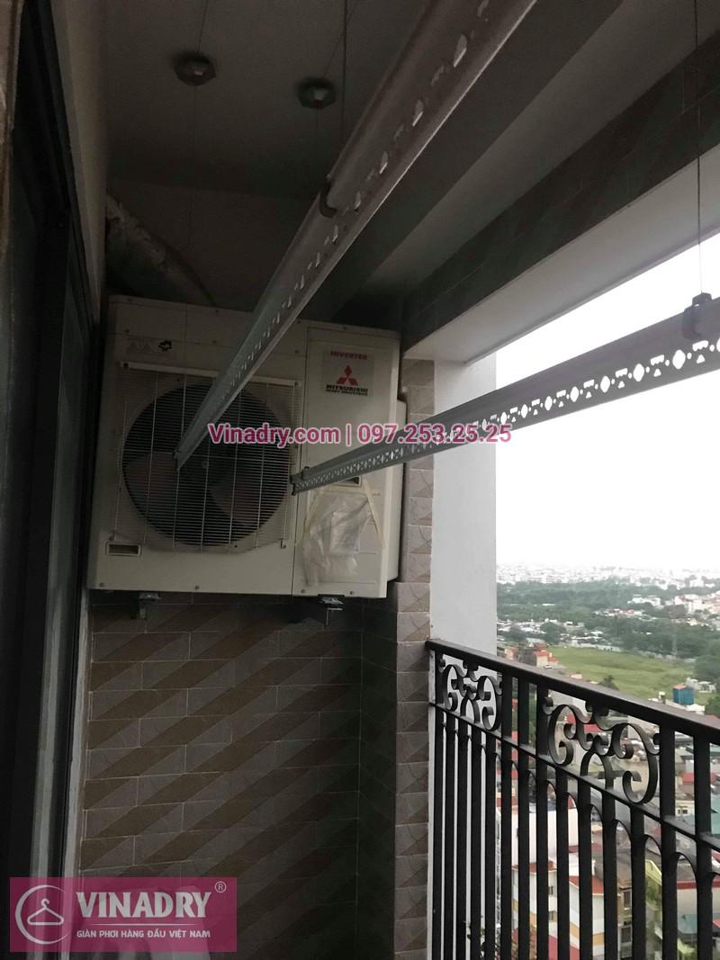 Lắp đặt giàn phơi thông minh tại quận Hoàng Mai, gia đình anh Mạnh chọn mẫu giàn phơi giá rẻ KS990