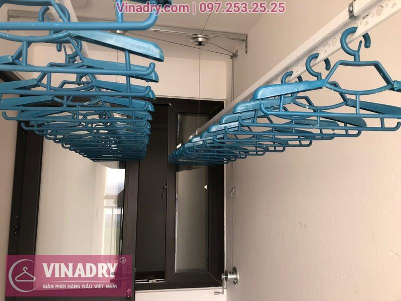 Lắp giàn phơi HP701 ở Long Biên, chung cư Ruby City CT3 Phúc Lợi, nhà anh Quy