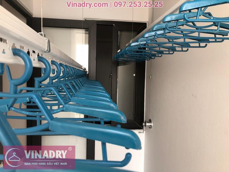 Lắp giàn phơi HP701 ở Long Biên, chung cư Ruby City CT3 Phúc Lợi, nhà anh Quy 03