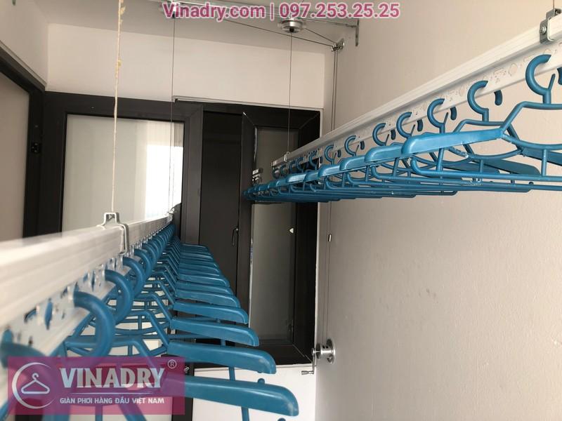 Lắp giàn phơi HP701 ở Long Biên, chung cư Ruby City CT3 Phúc Lợi, nhà anh Quy 04