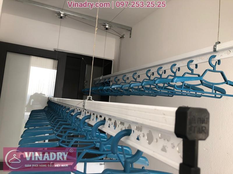 Lắp giàn phơi HP701 ở Long Biên, chung cư Ruby City CT3 Phúc Lợi, nhà anh Quy 05