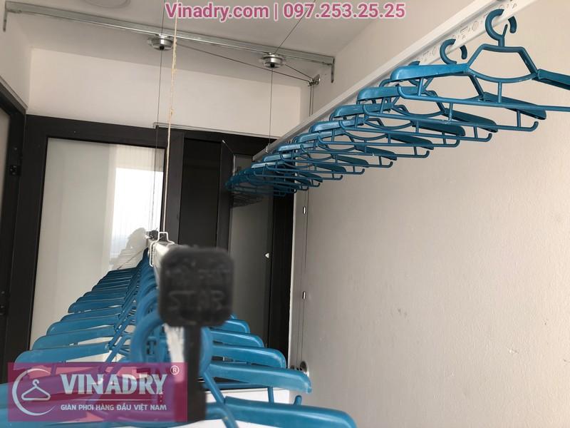 Lắp giàn phơi HP701 ở Long Biên, chung cư Ruby City CT3 Phúc Lợi, nhà anh Quy 07