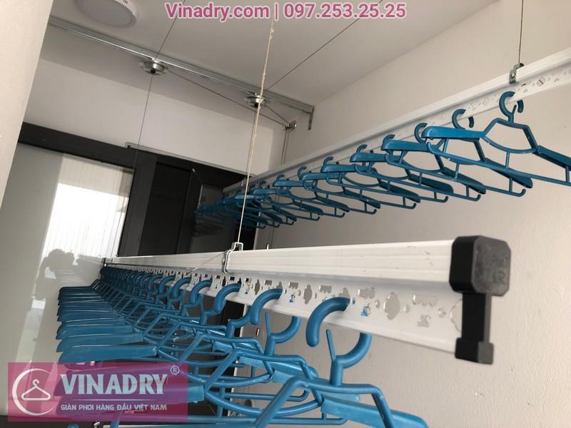 Lắp giàn phơi HP701 ở Long Biên, chung cư Ruby City CT3 Phúc Lợi, nhà anh Quy 08