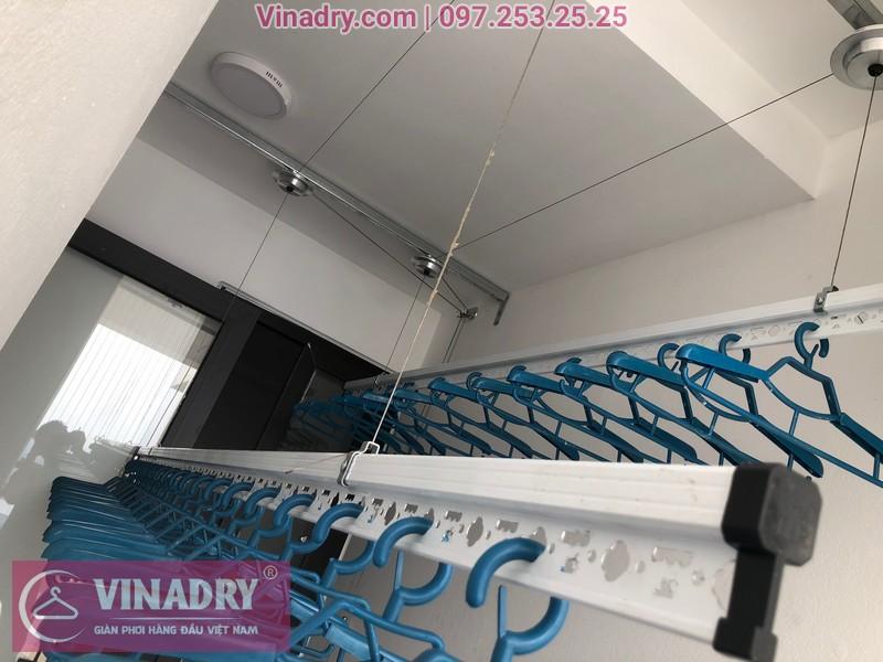Lắp giàn phơi HP701 ở Long Biên, chung cư Ruby City CT3 Phúc Lợi, nhà anh Quy 09