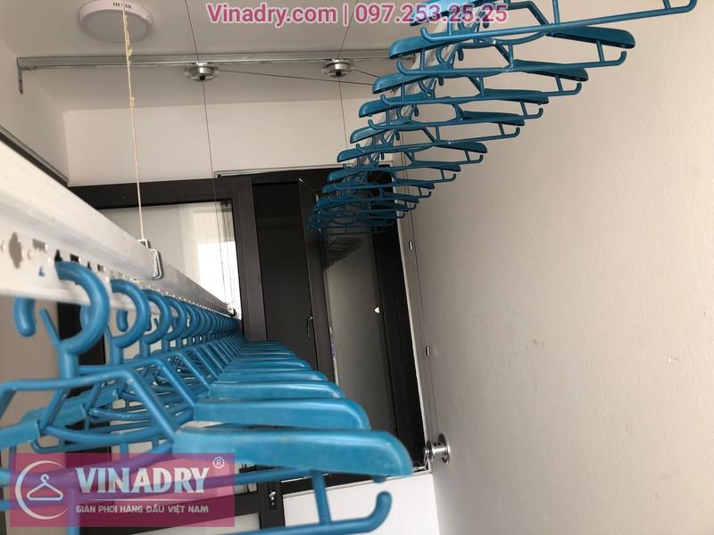 Lắp giàn phơi HP701 ở Long Biên, chung cư Ruby City CT3 Phúc Lợi, nhà anh Quy 11