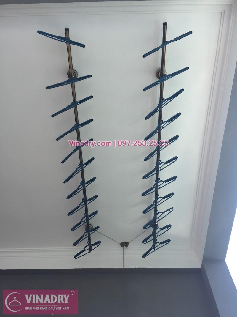 Lắp giàn phơi quần áo chống rối tại Bắc Từ Liêm, bộ GP972 cho nhà anh Biên