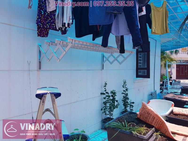 Lắp giàn phơi xếp ngang Vinadry tại Dĩ An, nhà cô Mai, D1, khu dân cư Đức Huy, Tân Hòa, Đông Hòa, Bình Dương