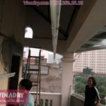 Lắp giàn phơi thông minh tại Cầu Giấy cho nhà chị Hải tại số 93 ngõ 27 Võ Chí Công