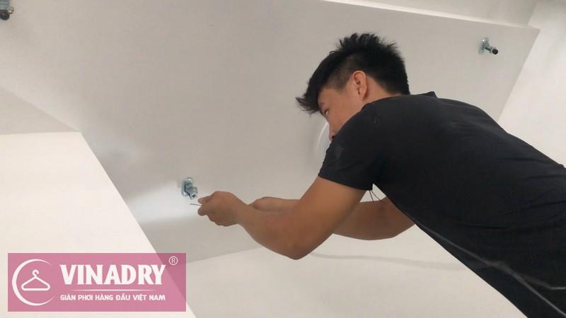 Lắp giàn phơi thông minh chống rối GP971 cho nhà chị Trà, chung cư Vinhomes Nguyễn Chí Thanh
