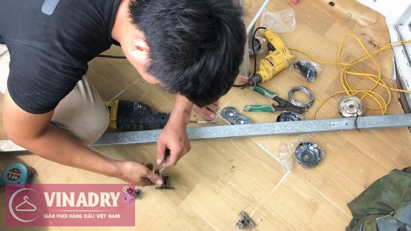 Lắp giàn phơi thông minh chống rối GP972 tại Xuân Thủy Cầu Giấy, nhà chú Thao