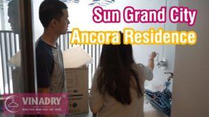 Lắp giàn phơi thông minh chung cư Sun Grand, nhà chị An, Lương Yên, Hai Bà Trưng