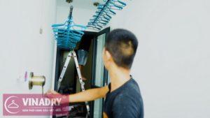 Lắp giàn phơi thông minh Hà Đông, nhà chị Chi, chung cư ICID Complex, Hà Nội