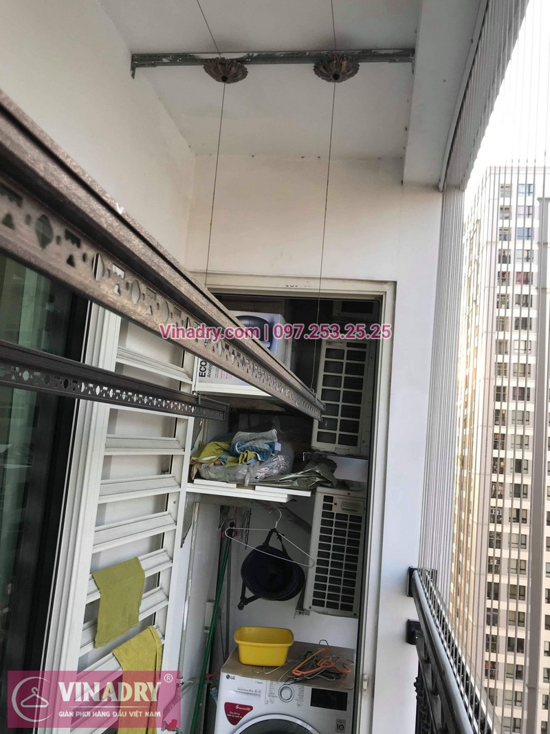 Sửa giàn phơi thông minh tại Times City cho nhà cô Mơ, thay linh kiện chất lượng