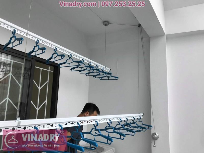 Lắp giàn phơi thông minh tại Long Biên, nhà chú Huy, ngách 26/34 Tư Đình