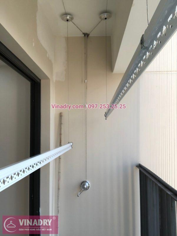 Lắp giàn phơi thông minh HP701 tại chung cư Vinhomes D'Capitale cho nhà anh Lữ