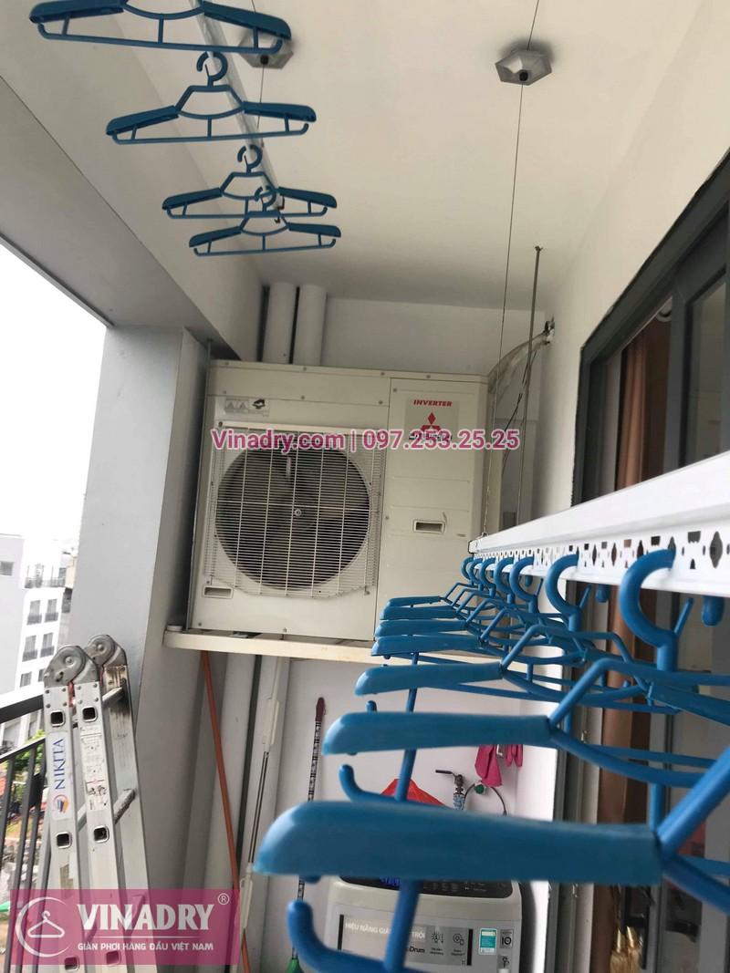 Lắp giàn phơi thông minh tại Long Biên bộ KS950 cho nhà chị Mai sống tại chung cư N8 Việt Hưng