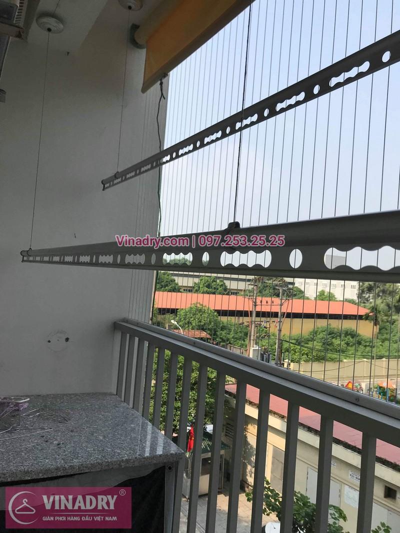 Lắp giàn phơi thông minh tại Long Biên - giàn phơi Hòa Phát, nhà anh Mão