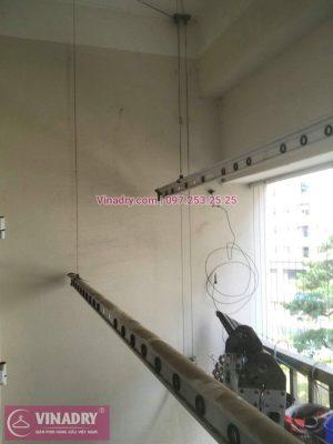 Sửa chữa giàn phơi - Thay dây cáp tại Hà Đông, chung cư HH2E, nhà chị Giang