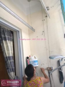 Sửa giàn phơi thông minh Từ Liêm cho nhà anh Nho ở phòng 607/S3 ngách 117/10 phố Trần Cung Cổ Nhuế