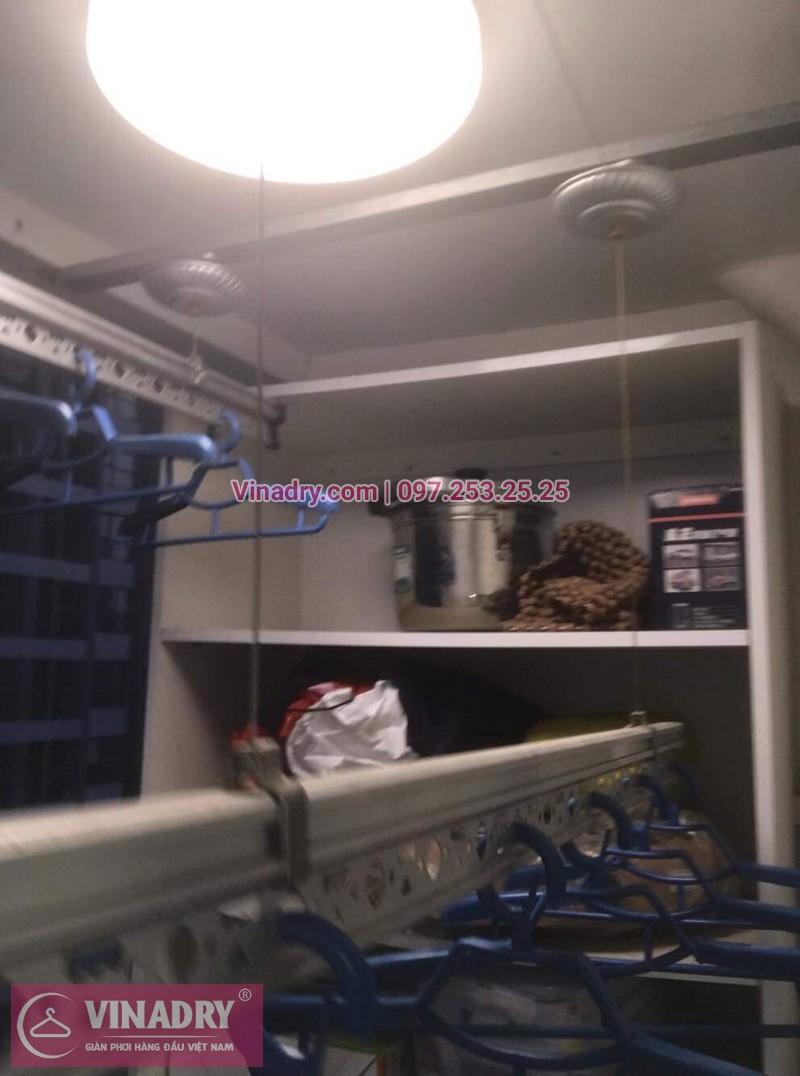 Thay bộ tời giàn phơi thông minh KS990 tại Times City cho nhà cô Bắc