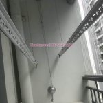 Thay dây cáp giàn phơi tại Times City, căn hộ 2007 tòa T8, quận Hai Bà Trưng, nhà anh Cô