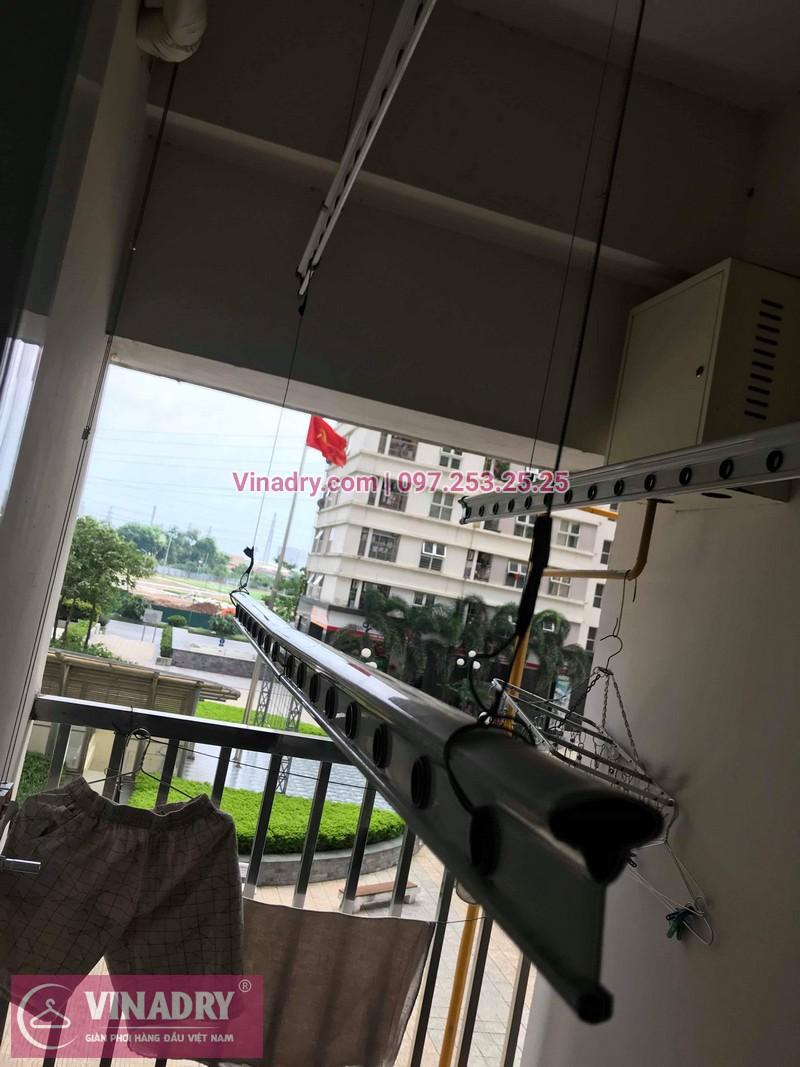 Thay linh kiện giàn phơi thông minh tại Hà Đông, nhà cô Vân chung cư Dương Nội The Sparks, căn CT7 tòa C