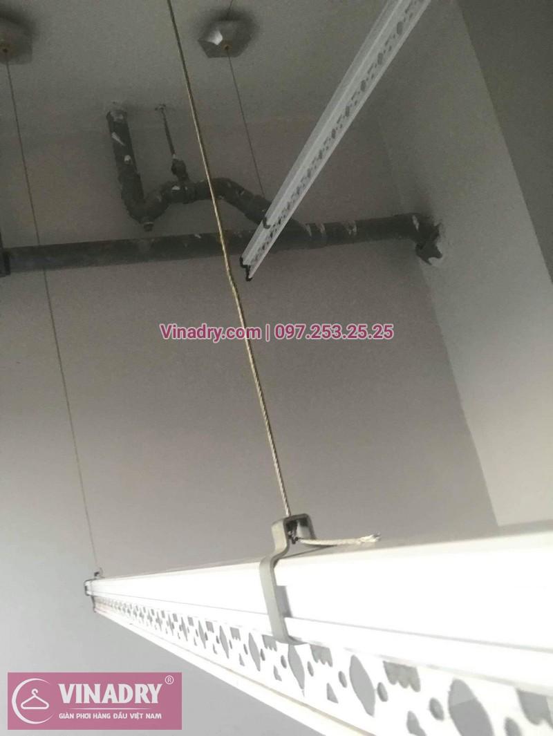 Vinadry thay dây cáp giàn phơi Q. Hoàng Mai, sửa chữa giàn phơi tại chung cư Sunshine Palace nhà cô Thủy 04