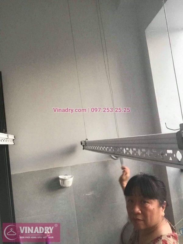 Vinadry thay dây cáp giàn phơi Q. Hoàng Mai, sửa chữa giàn phơi tại chung cư Sunshine Palace nhà cô Thủy