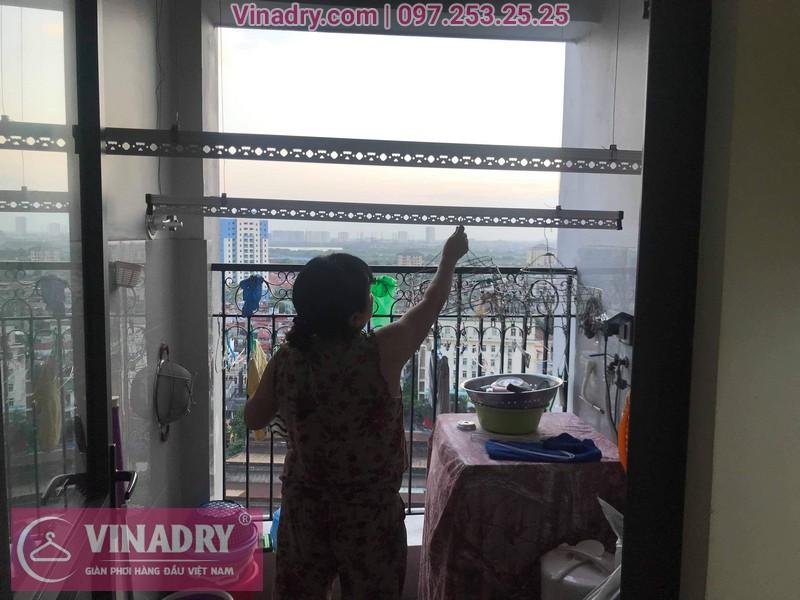 Vinadry thay dây cáp giàn phơi Q. Hoàng Mai, sửa chữa giàn phơi tại chung cư Sunshine Palace nhà cô Thủy 09
