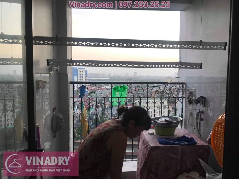 Vinadry thay dây cáp giàn phơi Q. Hoàng Mai, sửa chữa giàn phơi tại chung cư Sunshine Palace nhà cô Thủy 10