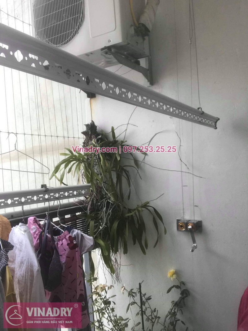 Vinadry thay bộ tời giàn phơi HP999B tại Victoria Văn Phú, Hà Đông cho nhà chú Phái