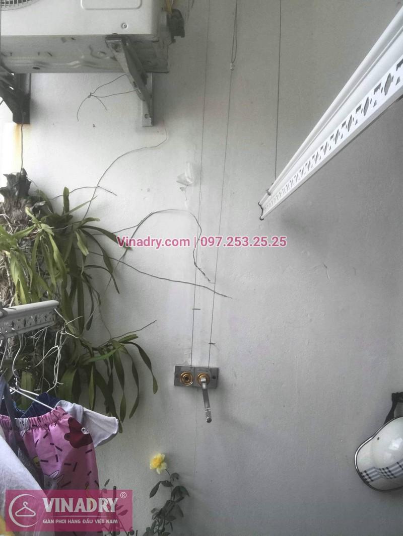 Vinadry thay bộ tời giàn phơi HP999B tại Victoria Văn Phú, Hà Đông cho nhà chú Phái 02