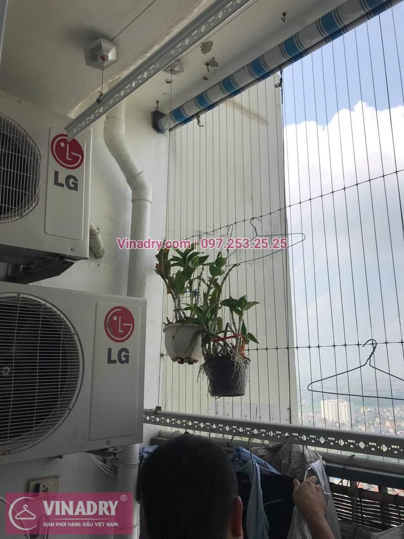 Vinadry thay bộ tời giàn phơi HP999B tại Victoria Văn Phú, Hà Đông cho nhà chú Phái 06