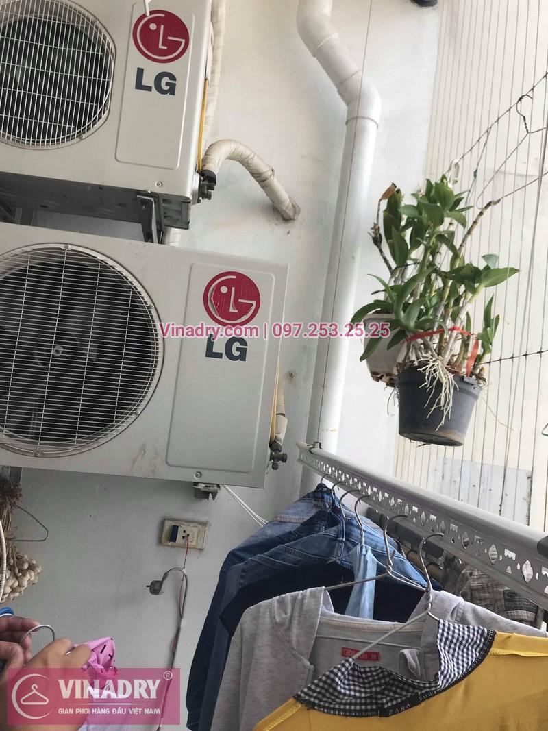 Vinadry thay bộ tời giàn phơi HP999B tại Victoria Văn Phú, Hà Đông cho nhà chú Phái 07