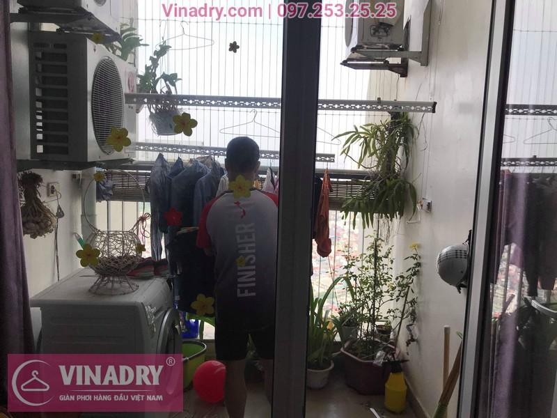 Vinadry thay bộ tời giàn phơi HP999B tại Victoria Văn Phú, Hà Đông cho nhà chú Phái 08