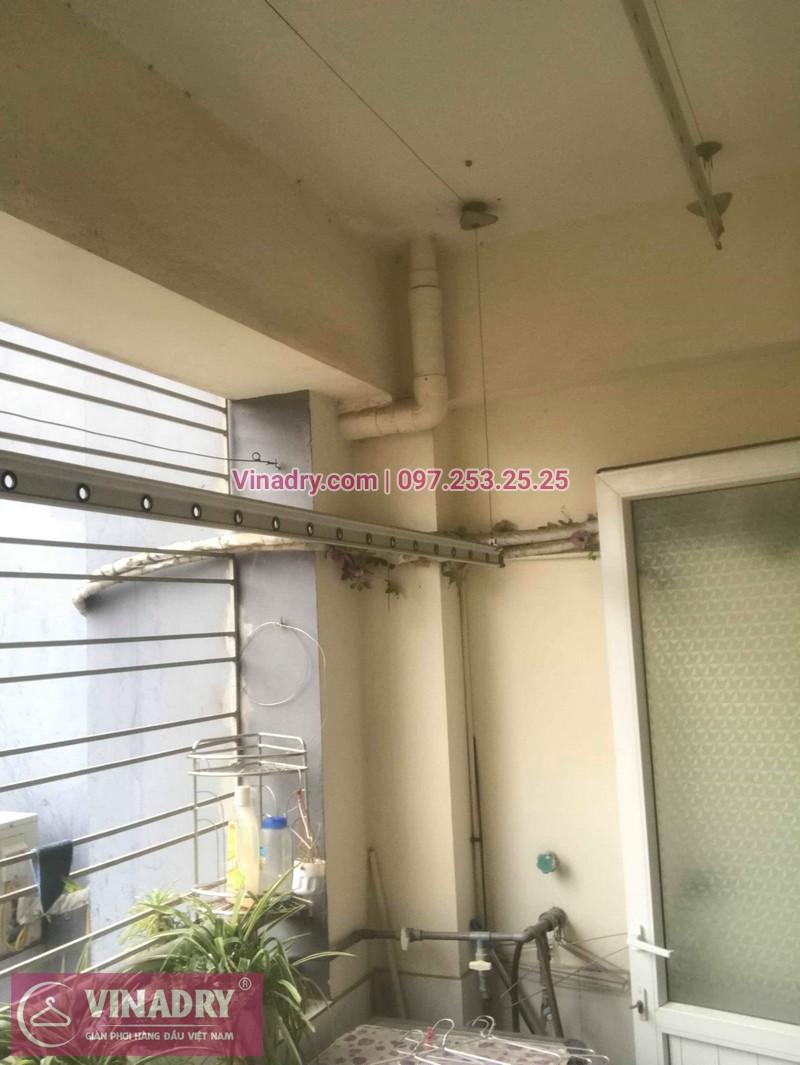 Thay dây cáp, sửa giàn phơi quần áo tại 16 Nguyễn Thái Học, Hà Đông cho nhà chị Lý