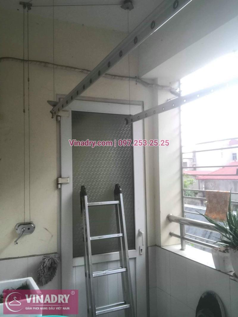 Thay dây cáp, sửa giàn phơi quần áo tại 16 Nguyễn Thái Học, Hà Đông cho nhà chị Lý 01