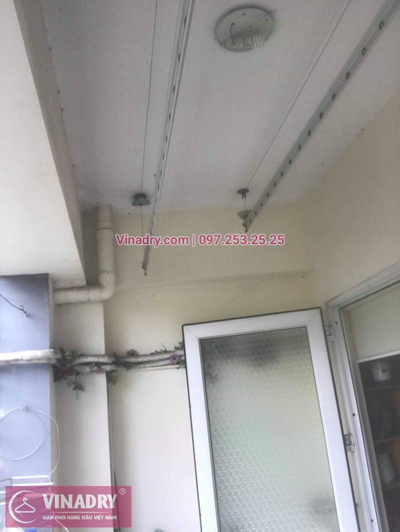 Thay dây cáp, sửa giàn phơi quần áo tại 16 Nguyễn Thái Học, Hà Đông cho nhà chị Lý 02