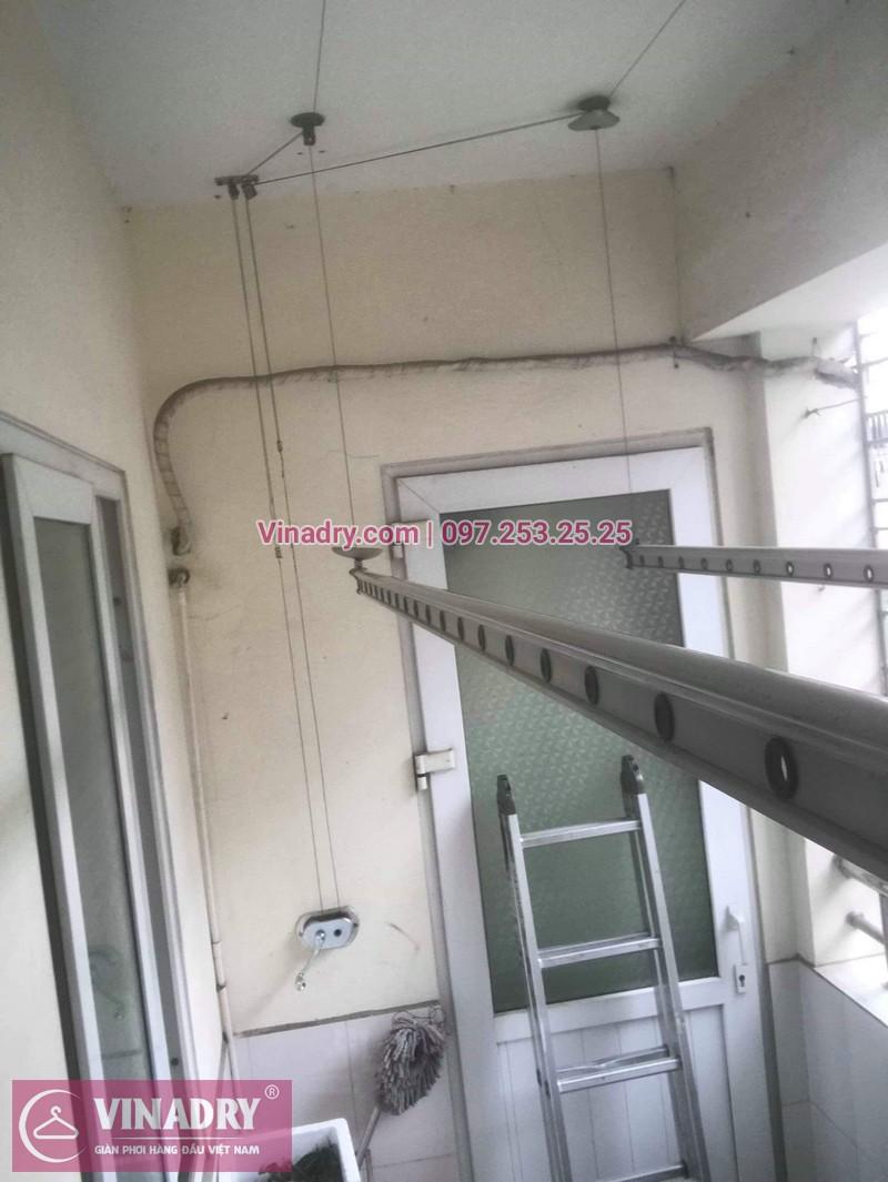 Thay dây cáp, sửa giàn phơi quần áo tại 16 Nguyễn Thái Học, Hà Đông cho nhà chị Lý 06