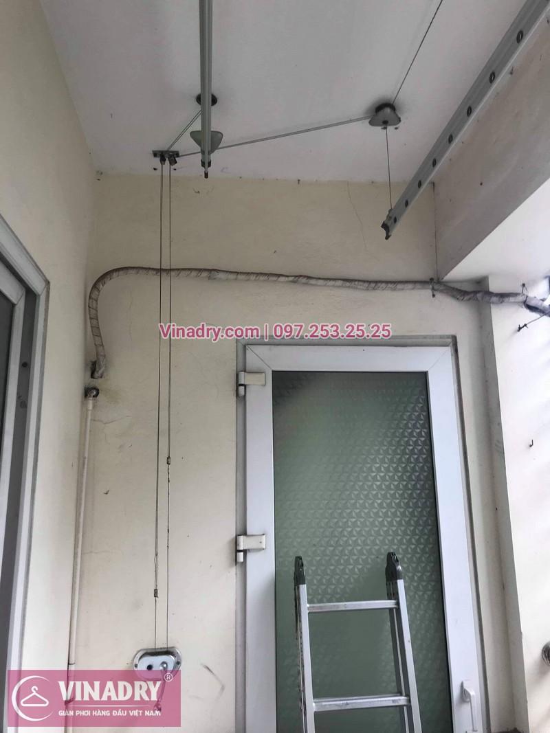 Thay dây cáp, sửa giàn phơi quần áo tại 16 Nguyễn Thái Học, Hà Đông cho nhà chị Lý 09