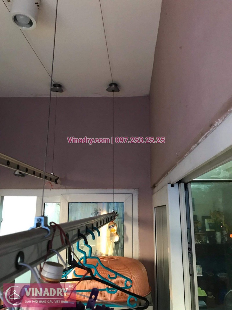 Vinadry thay dây cáp giàn phơi thông minh tại KĐT Việt Hưng cho nhà bác Loan 05