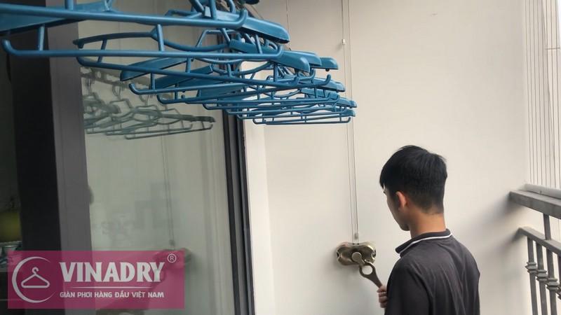 Vinadry lắp giàn phơi chống rối GP972 tại Vinhomes Green Bay Mễ Trì cho nhà chị Lụa